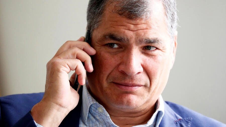 El expresidente de Ecuador Rafael Correa concedió una entrevista a Reuters desde Bruselas, Bélgica, el 8 de octubre de 2019.