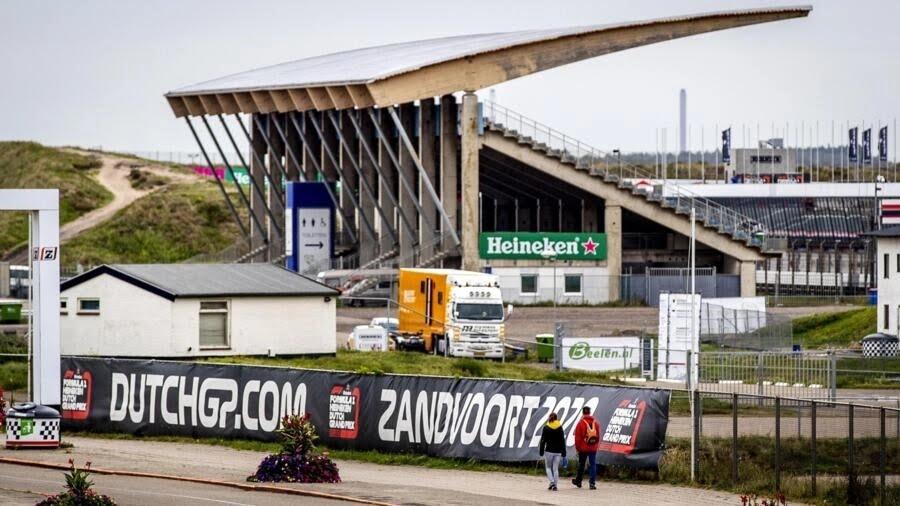 صورة لاشغال تجديد حلبة زاندفوت الهولندية في 24 أيلول/سبتمبر 2019.